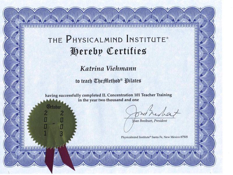 PMI certificate